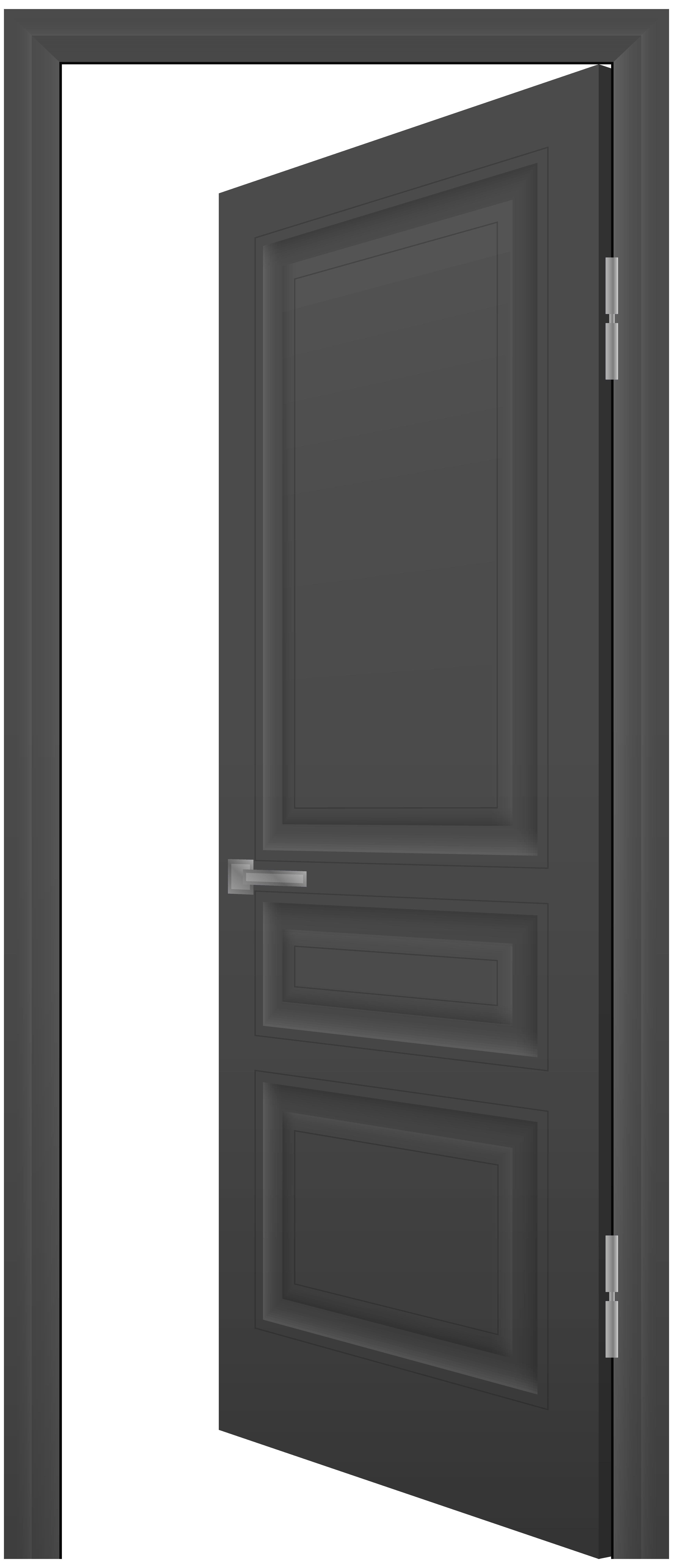 House door clipart clipart free library Open Door Grey PNG Clip Art - Best WEB Clipart clipart free library