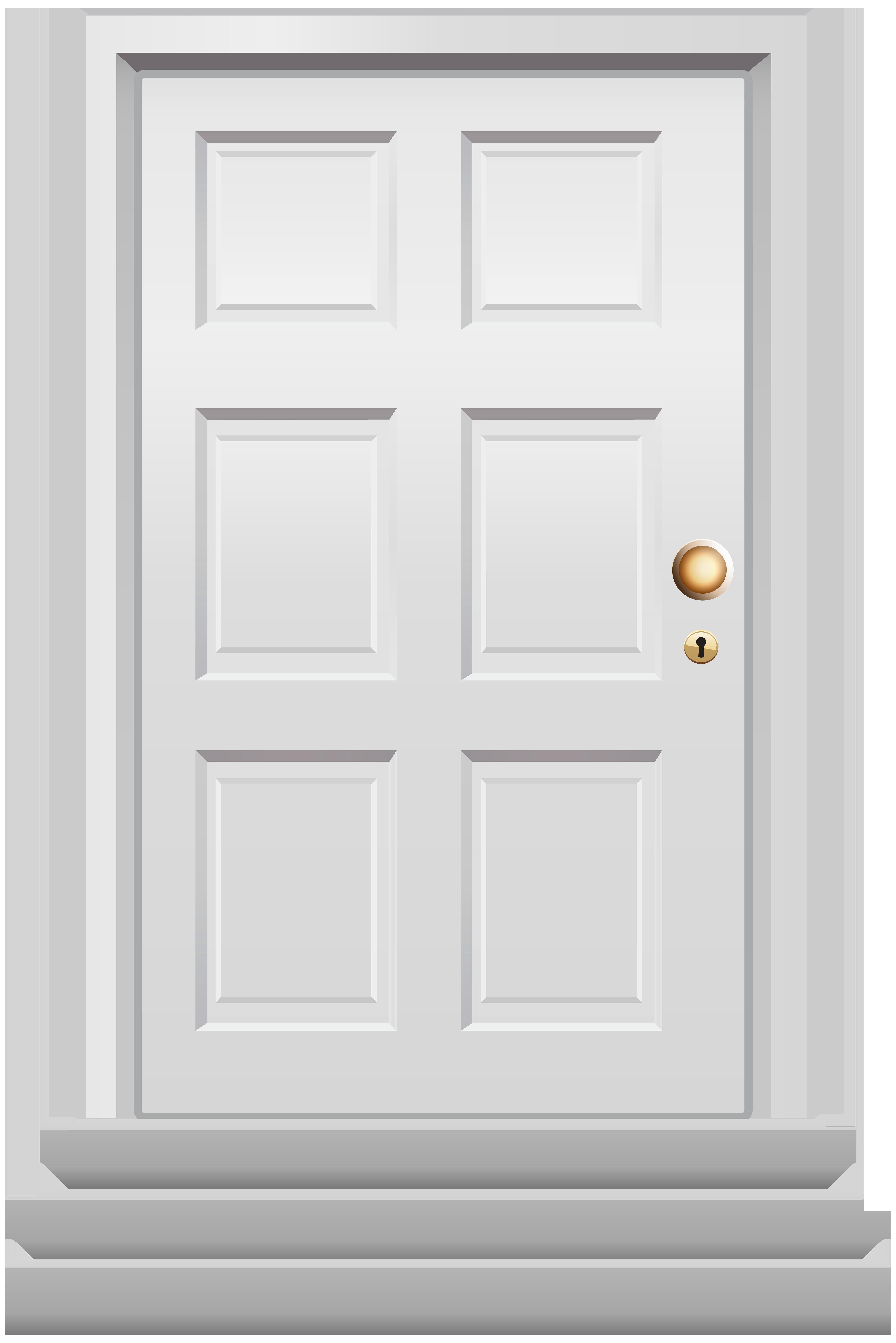 House door clipart jpg royalty free download Front Door White PNG Clip Art - Best WEB Clipart jpg royalty free download
