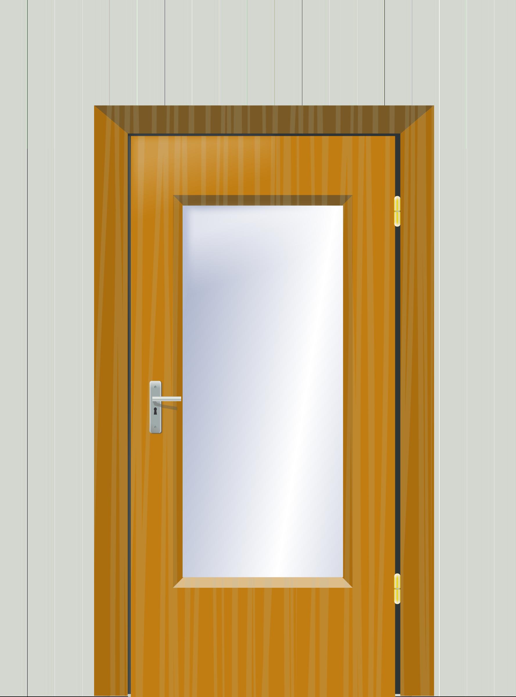 School door clipart picture library download Clipart - Door with cristal and wall picture library download