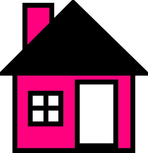 House drawing clipart png freeuse download Pink House The Clip Art at Clker.com - vector clip art online ... png freeuse download