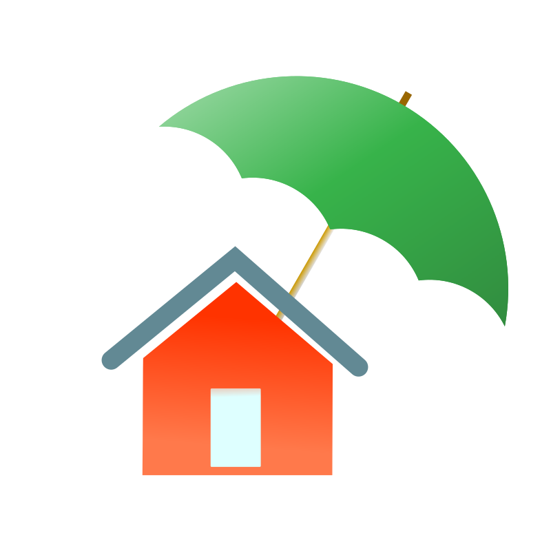 House family clipart stock Clipart - home insurance stock