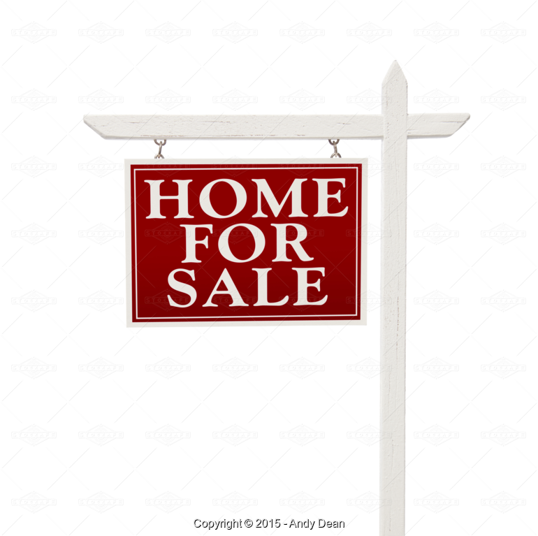 House sold sign clipart vector freeuse download Home For Sale Real Estate Sign on White or Transparent PNG - Stock ... vector freeuse download