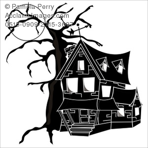 House full clipart clip art transparent stock Clip Art Illustration of a Spooky Old House at Night With a ... clip art transparent stock
