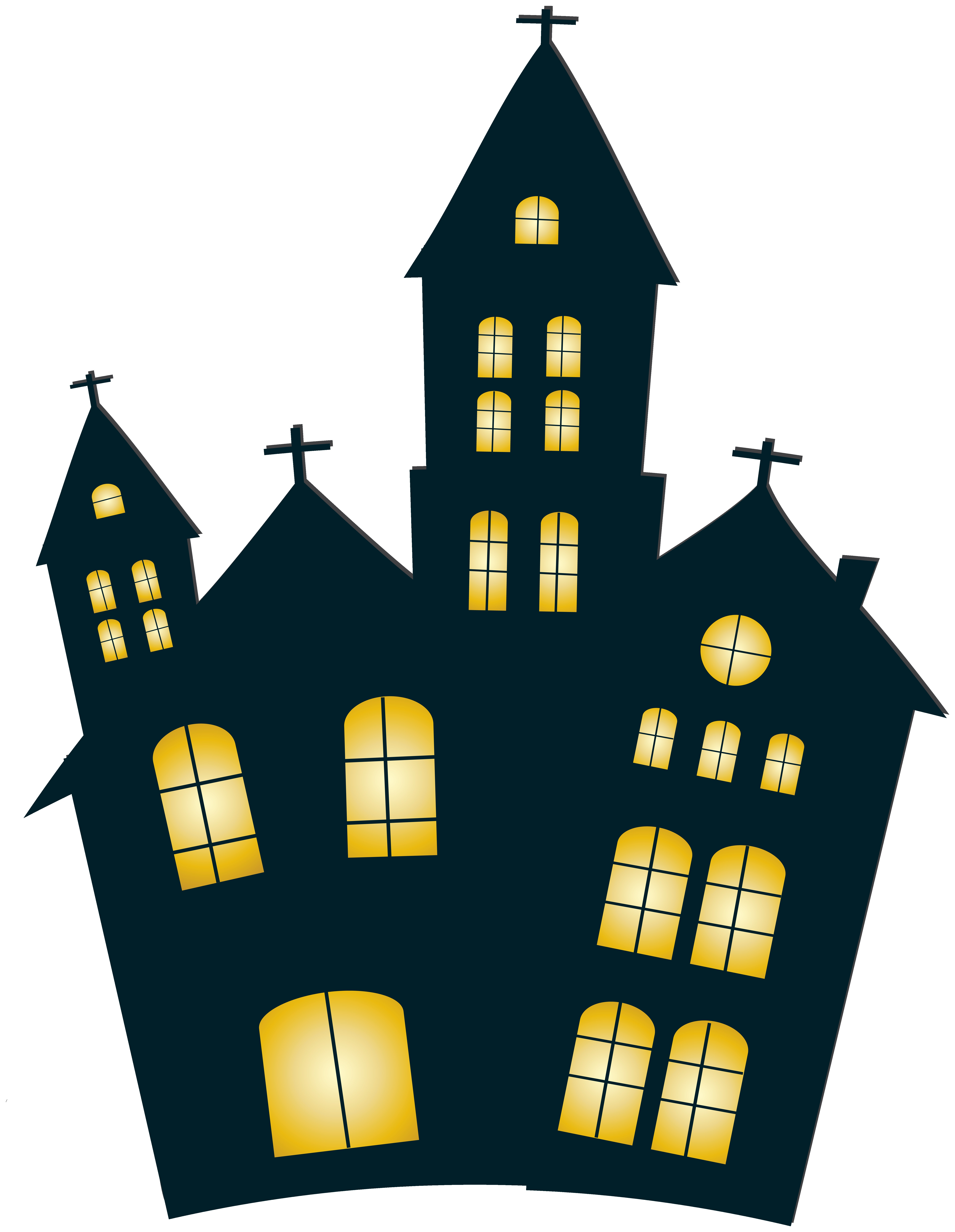 House full clipart svg black and white stock With Clipart Full House Halloween Night Clip Art Image Png M ... svg black and white stock
