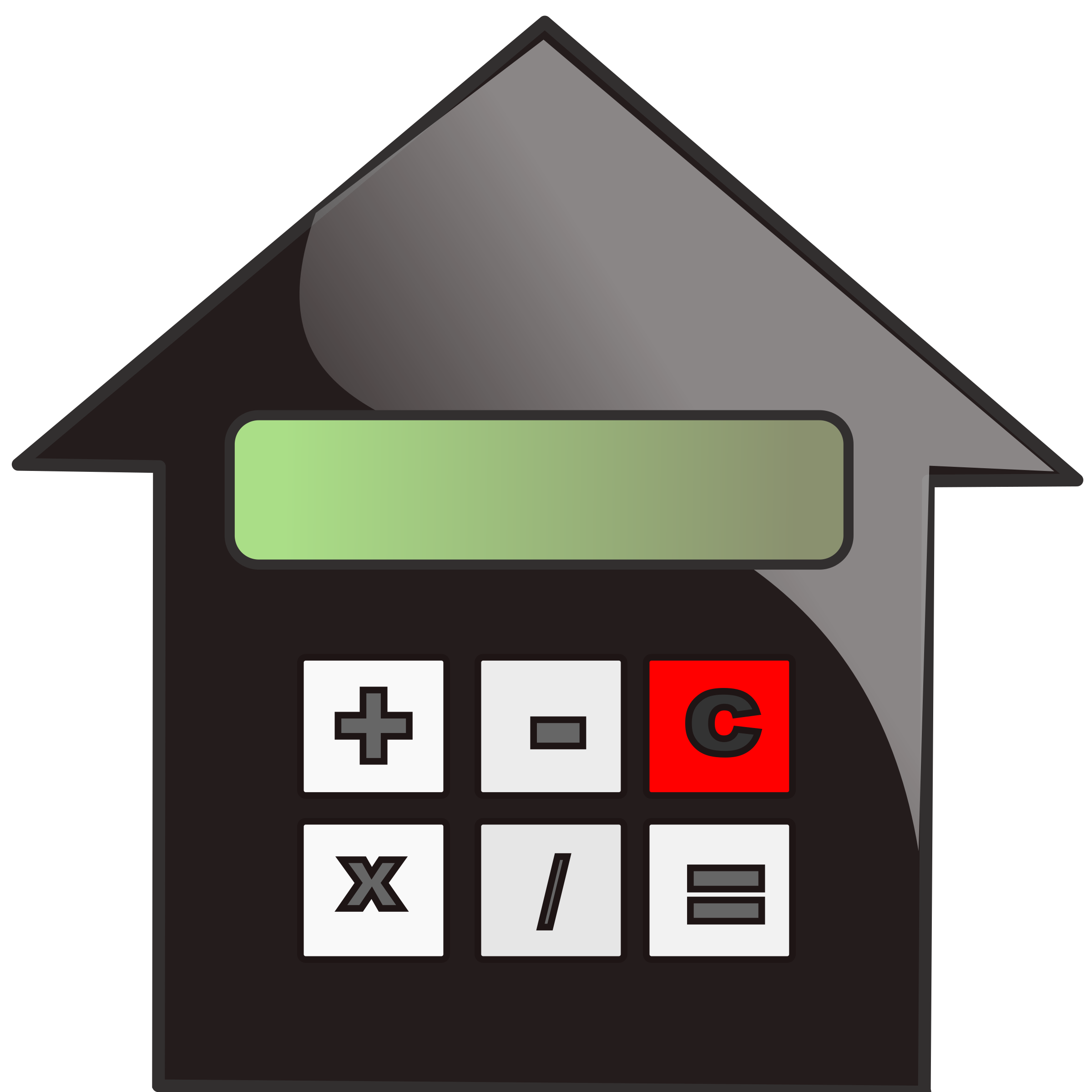House furniture clipart vector stock Clipart - mortgage calculator vector stock