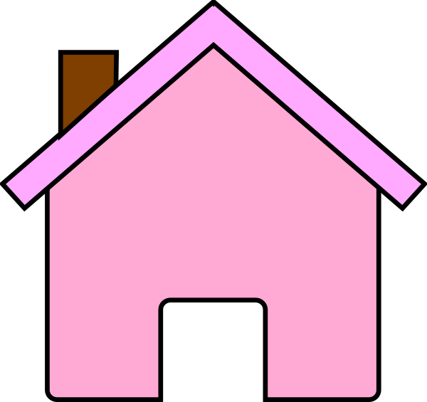 House graphic clipart jpg royalty free House clipart pink ~ Frames ~ Illustrations ~ HD images ~ Photo ... jpg royalty free