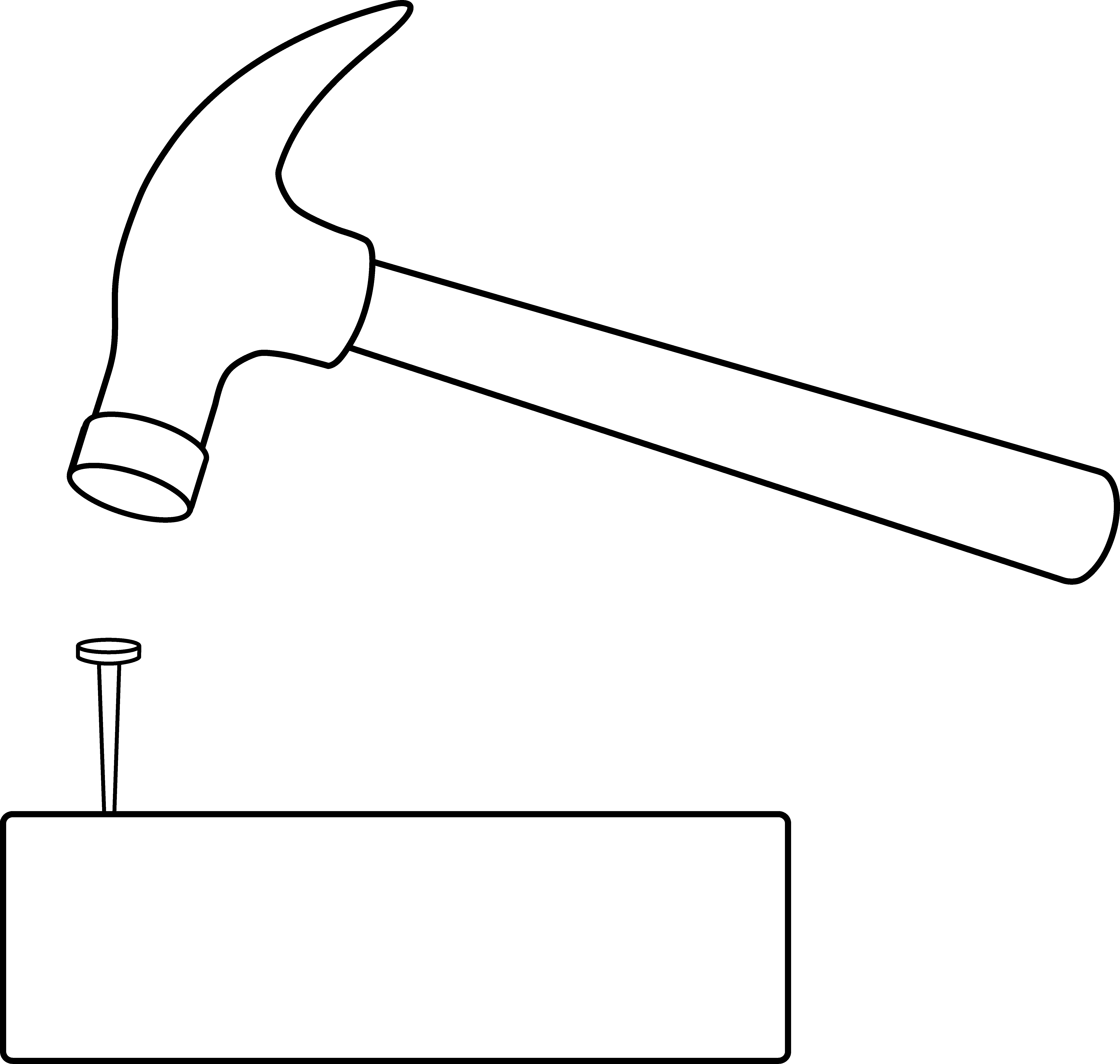 House hammer clipart banner Free clipart hammer nail house banner