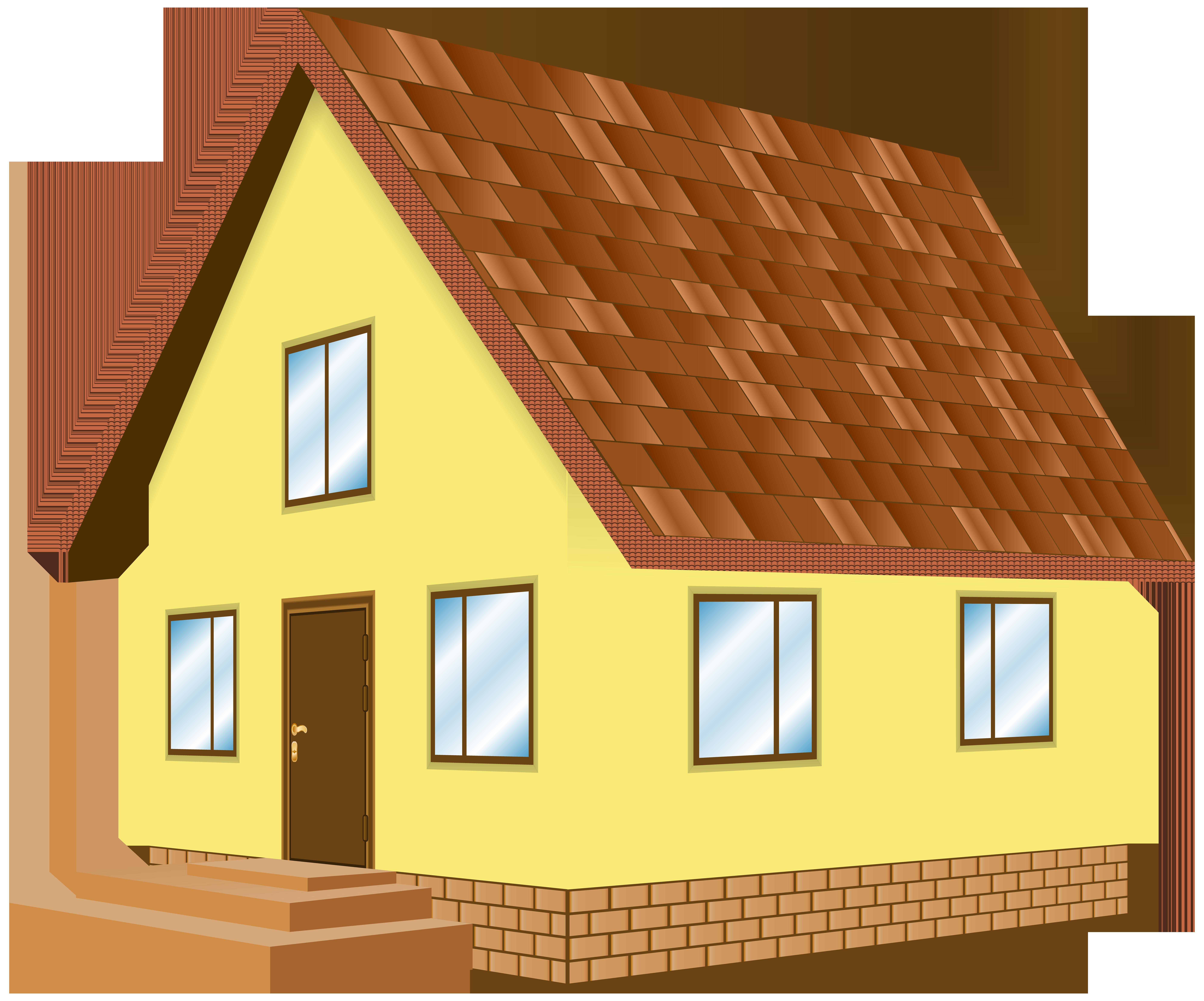 Parts of the house clipart image transparent House Yellow PNG Clip Art - Best WEB Clipart image transparent