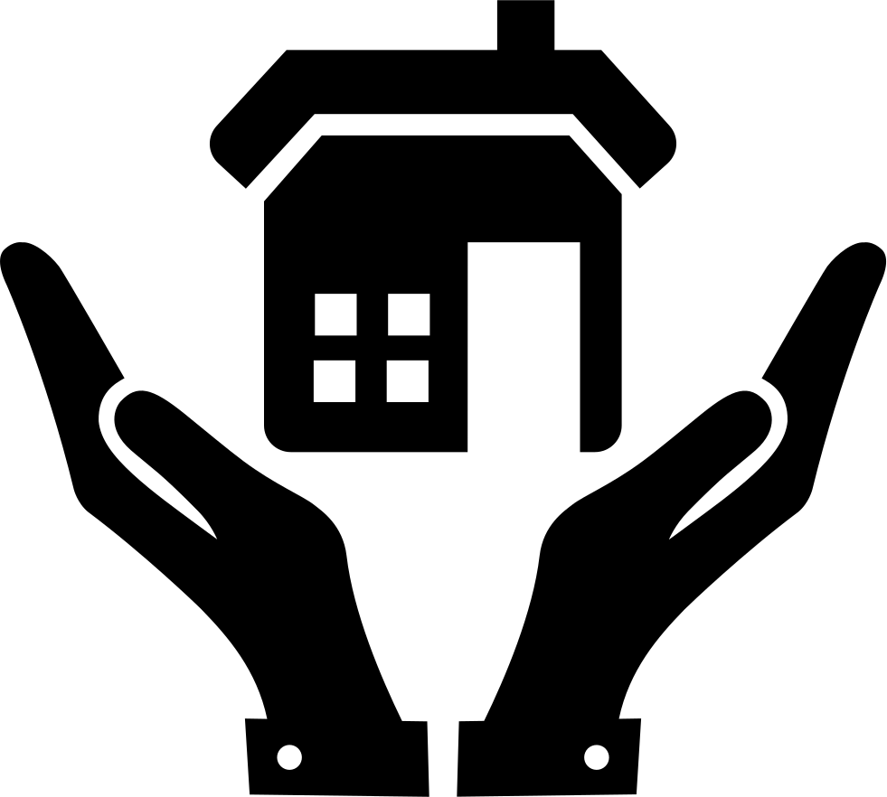 Open Hands And A Home Svg Png Icon Free Download (#67094 ... clip freeuse library