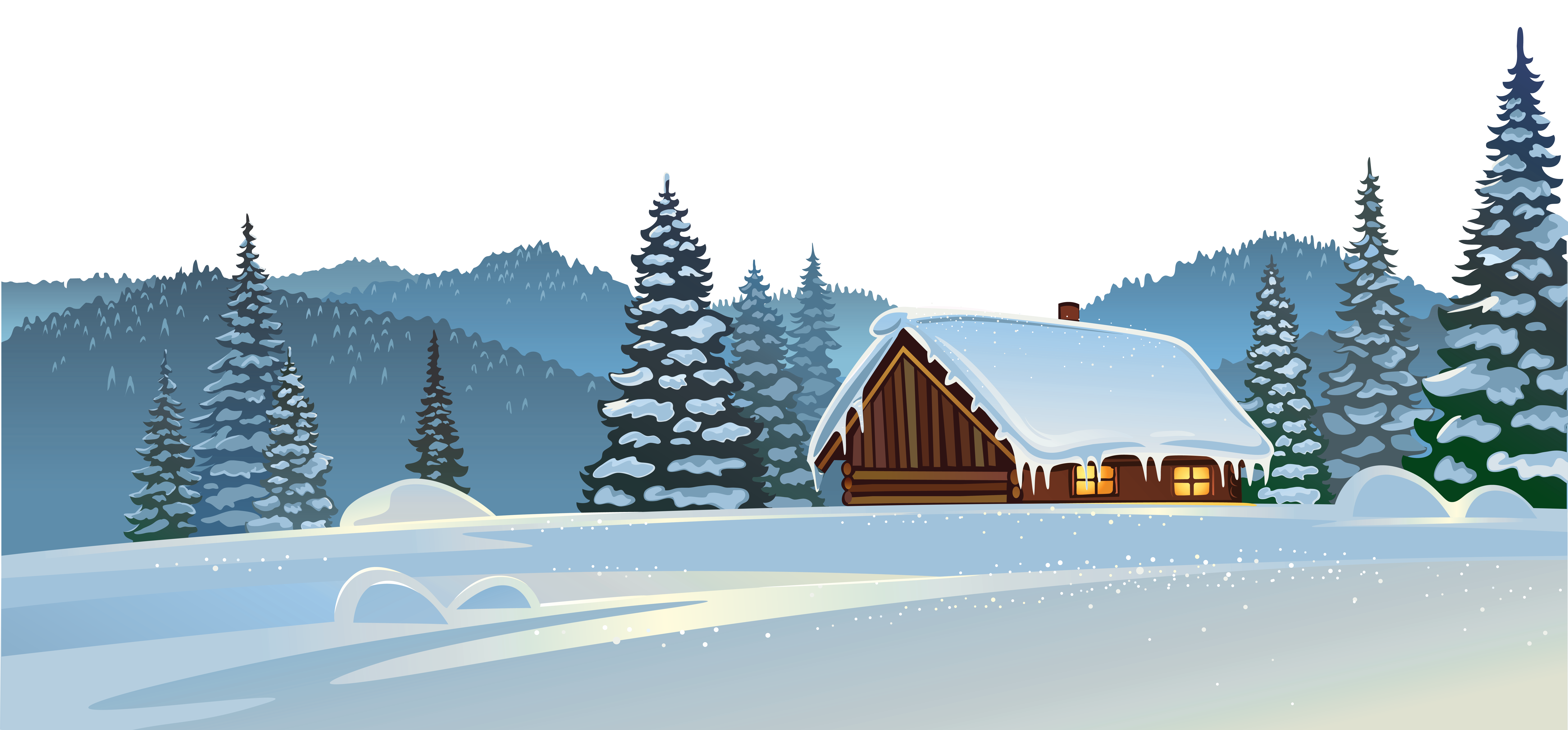 House in snow clipart image transparent download Winter House and Snow Ground PNG Clipart Image | Gallery ... image transparent download