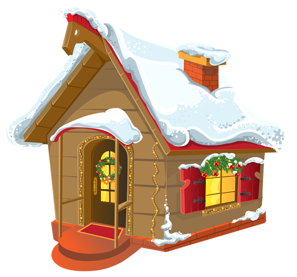 House in snow clipart graphic freeuse stock Gallery - Christmas PNG graphic freeuse stock