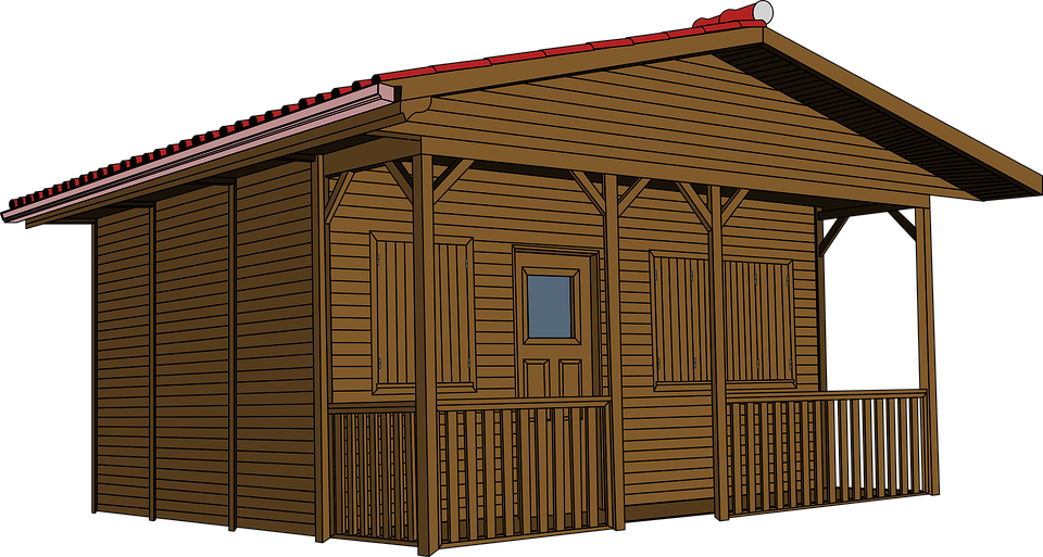 House vector clipart vector transparent stock Free PNG Log Cabin Woods Transparent Log Cabin Woods.PNG Images ... vector transparent stock