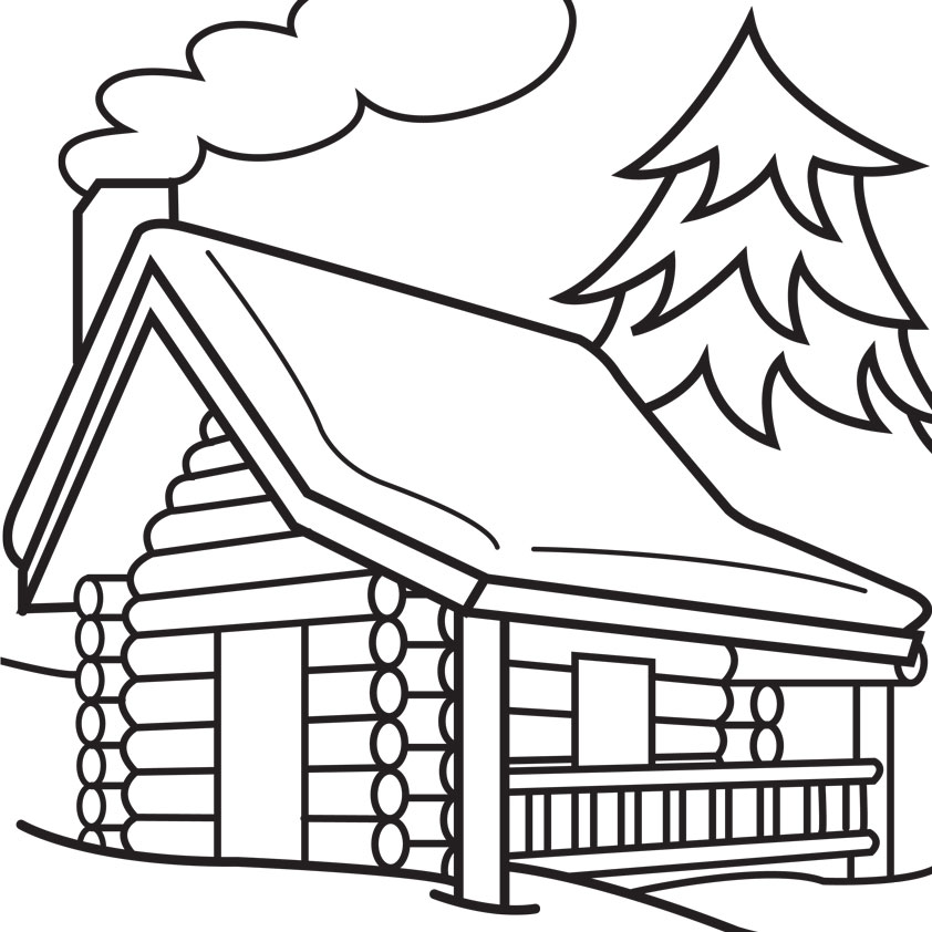 House in the woods clipart black and white clip royalty free stock House black and white clip art black and white log cabin 6 ... clip royalty free stock