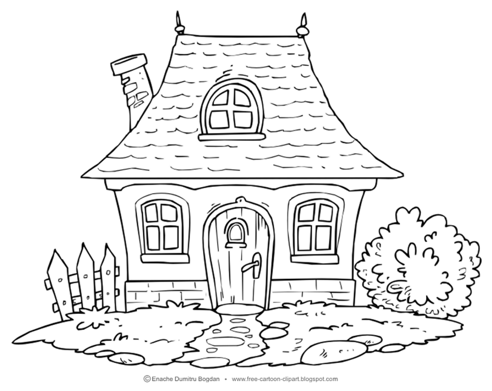 House in the woods clipart black and white stock Free Cottage Cliparts, Download Free Clip Art, Free Clip Art ... stock