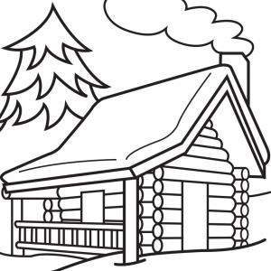 House in the woods clipart black and white jpg download House Silhouette Scary House Clip Art - Clip Art Library jpg download