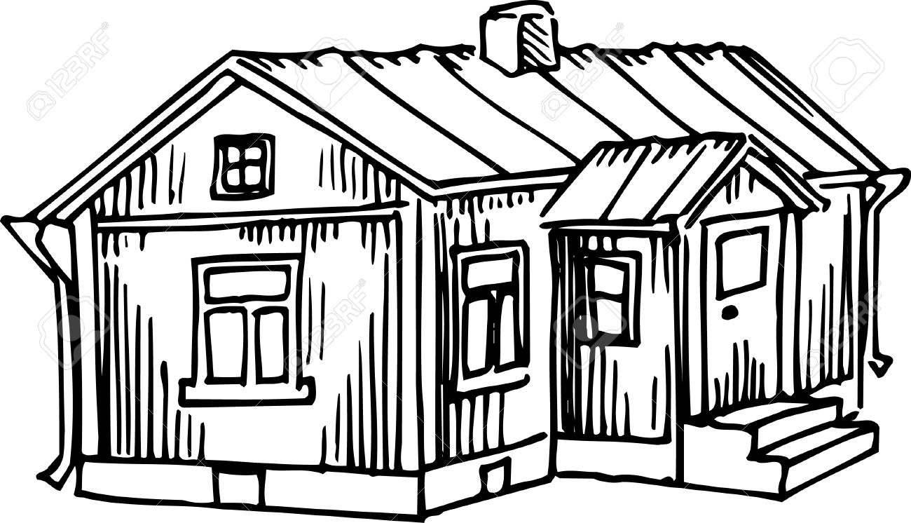 House in the woods clipart black and white picture freeuse Cottage Clipart Black And White | Free download best Cottage ... picture freeuse