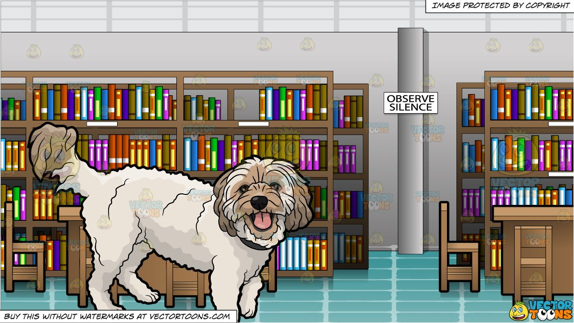 House inside clipart empty jpg A Furry House Dog and Inside An Empty Library Background jpg
