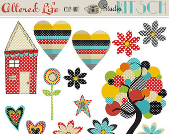 House invitation with hearts clipart banner library stock Heart tree clip art – Etsy banner library stock