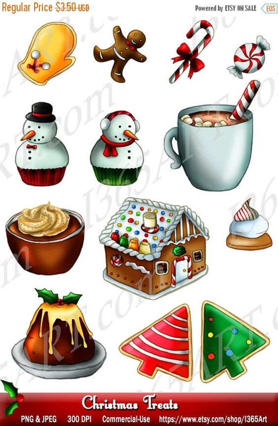 House invitation with hearts clipart clip art library download Merry Christmas Treats Clipart, Party, Invitations, Scrapbooking ... clip art library download