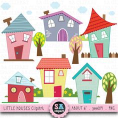 House invitation with hearts clipart