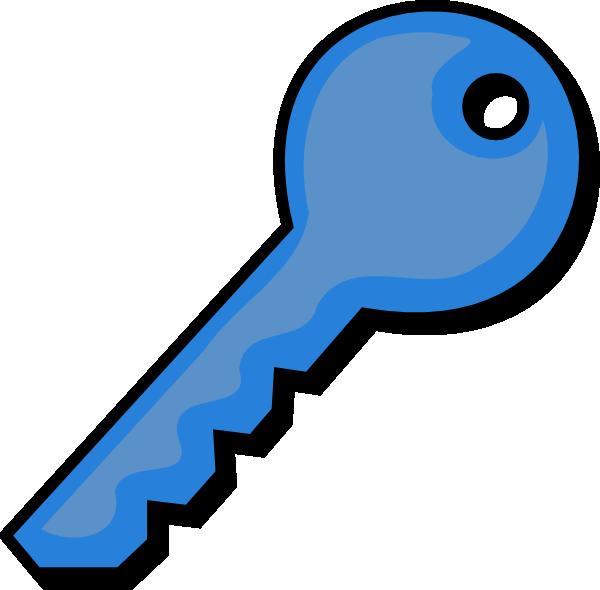 Blue Key Clip Art at Clker.com - vector clip art online, royalty ... png freeuse stock