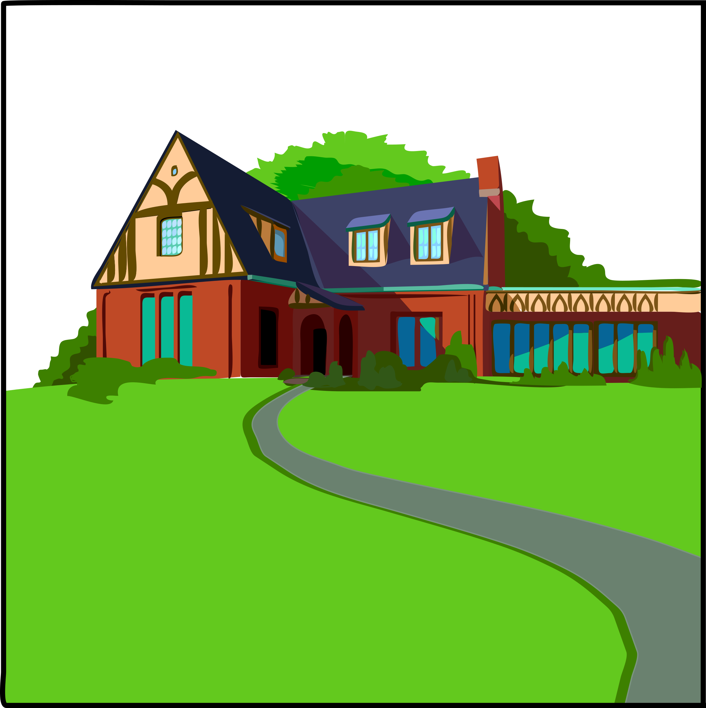 Old house clipart graphic transparent download Clipart - Architetto -- Casa in campagna graphic transparent download