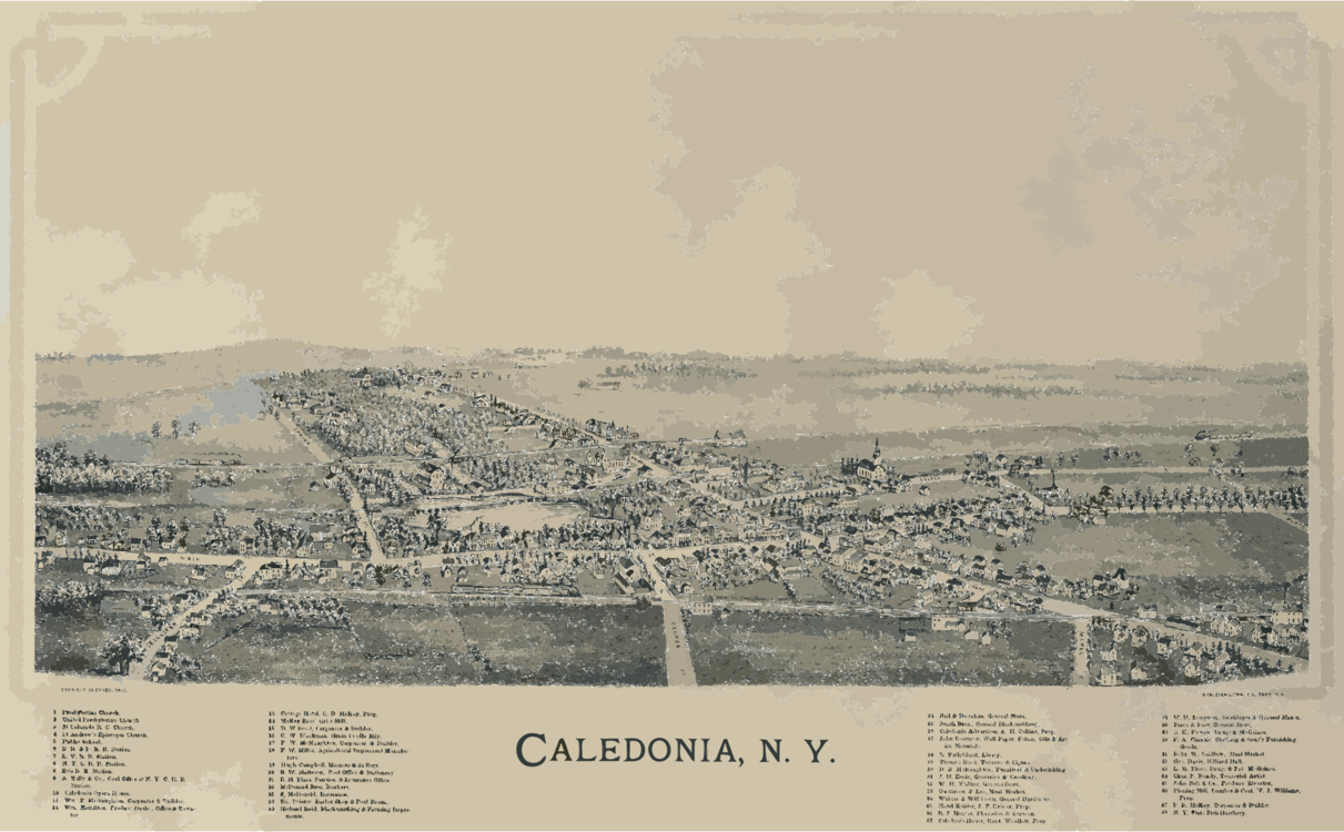 Caledonia New York City Clark-Keith House Map free commercial ... vector black and white stock