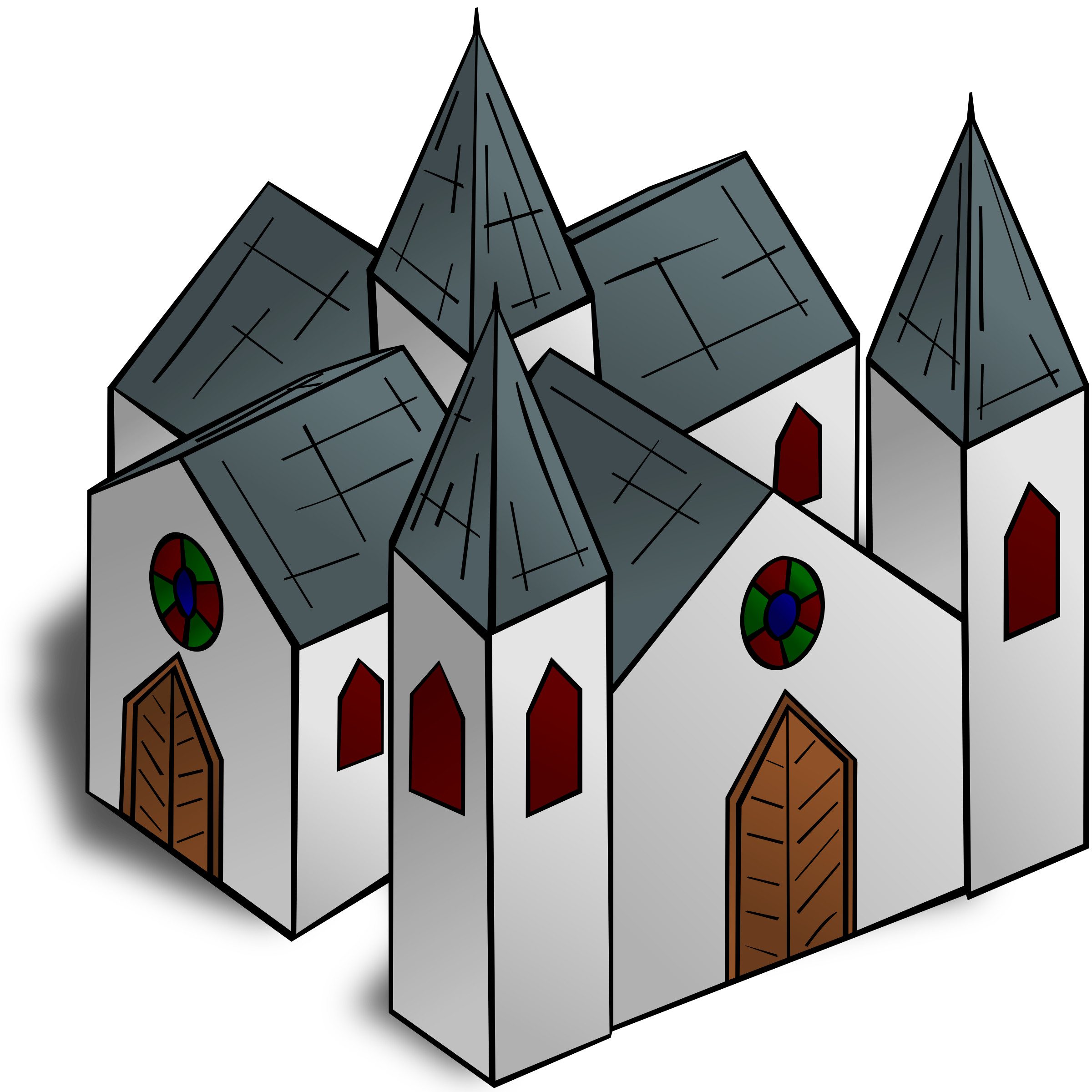 Clipart - RPG map symbols: Cathedral graphic library download