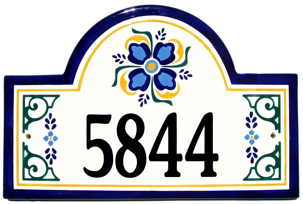 House number clipart png Address Plaques Gallery - Ceramic Address Plaques - Ceramic House ... png