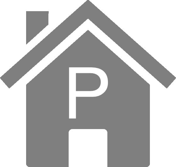 Simple Grey P House Clip Art at Clker.com - vector clip art online ... banner transparent stock