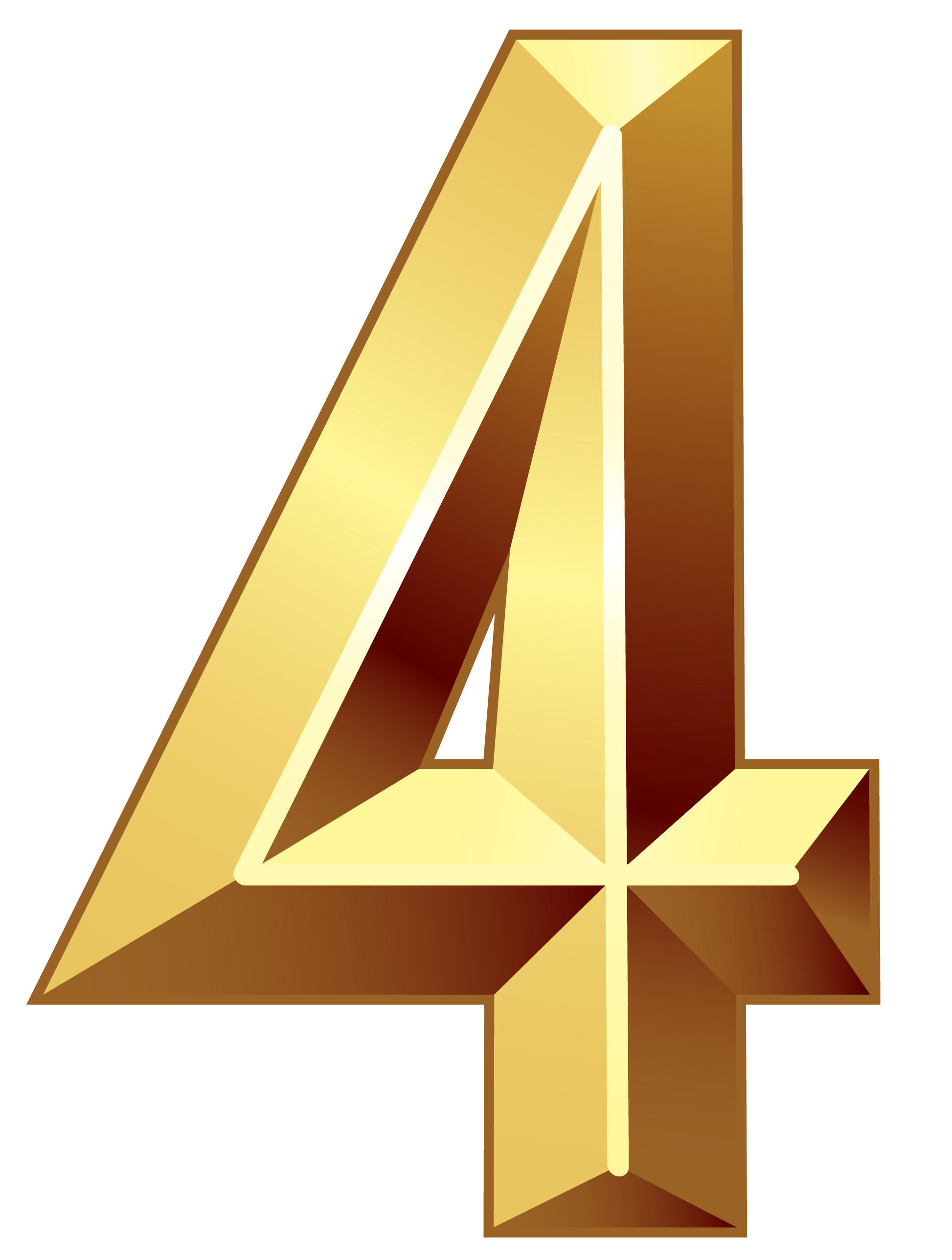 Gold Number Four PNG Clipart Image | Numbers64 | Pinterest | Gold ... banner free library