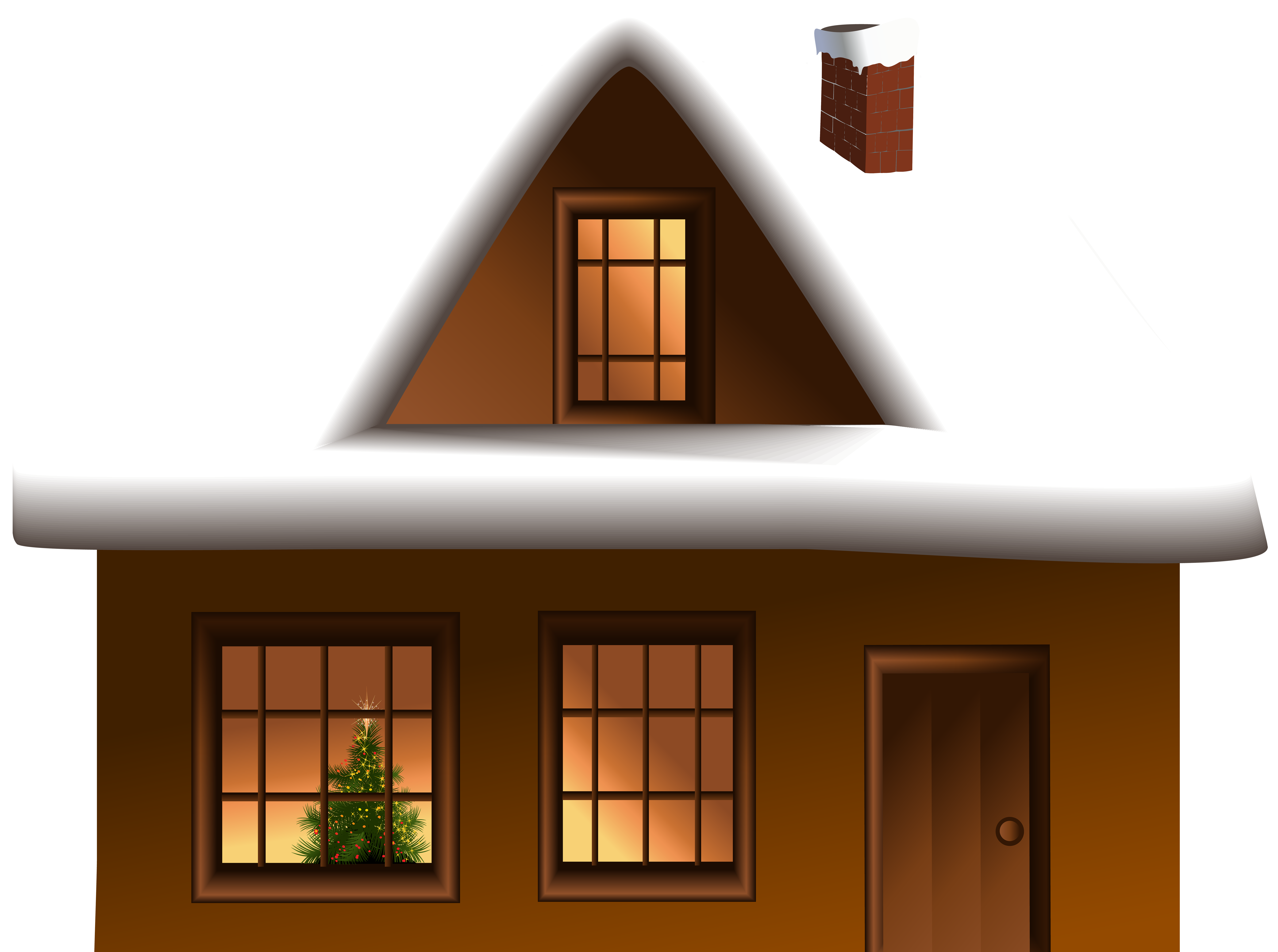 Winter House PNG Clip Art Image | Gallery Yopriceville - High ... png black and white download