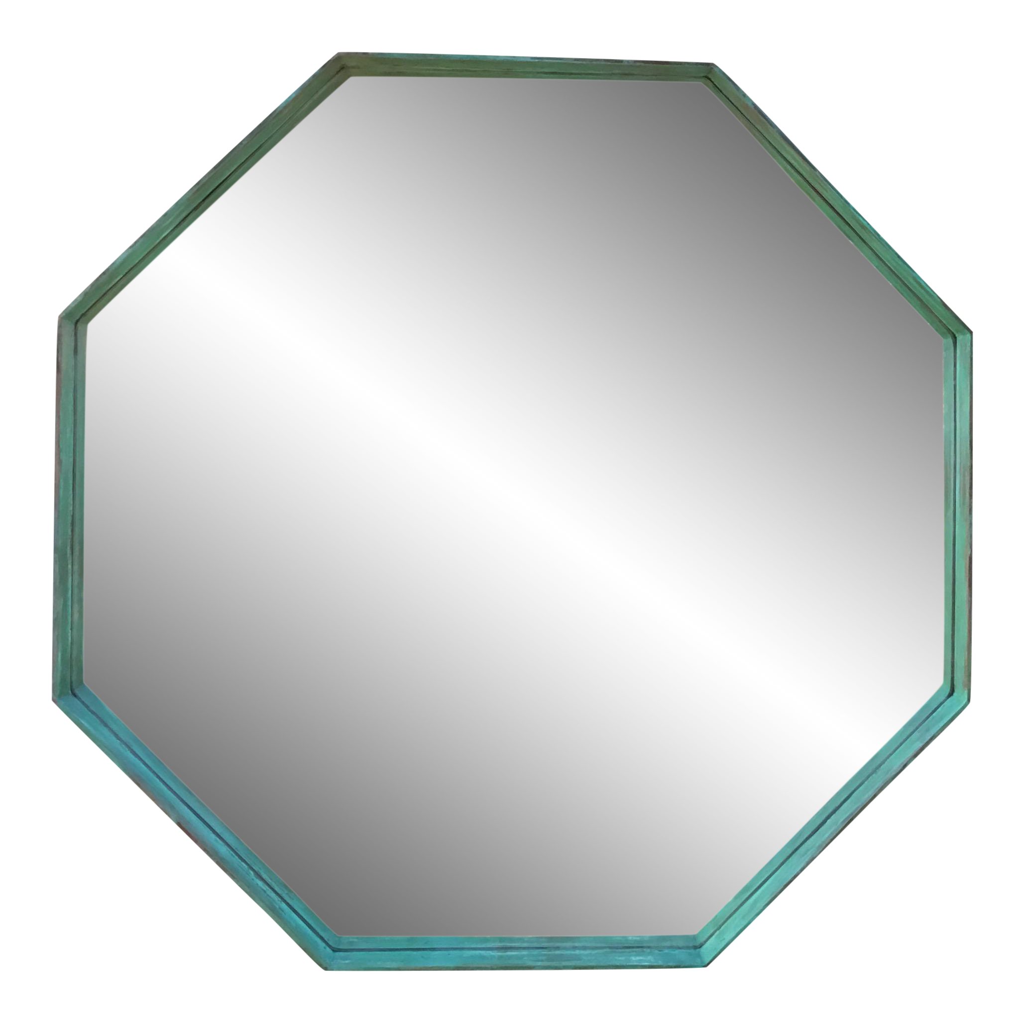 House of mirrors clipart royalty free library Architectural Bronze Hexagon Mirror | Chairish royalty free library