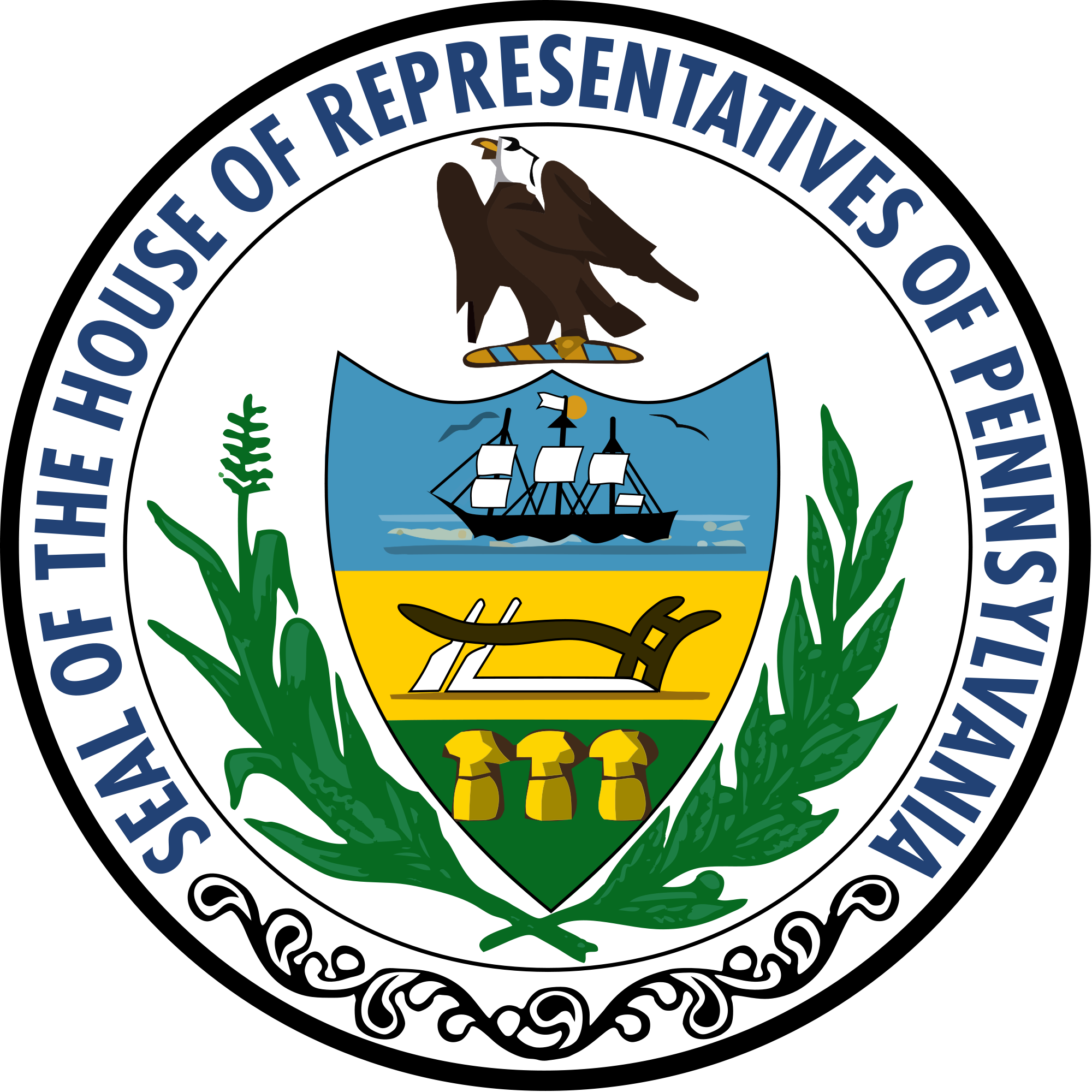 Pennsylvania state house clipart graphic black and white library File:Seal of the Pennsylvania House of Representatives.svg ... graphic black and white library