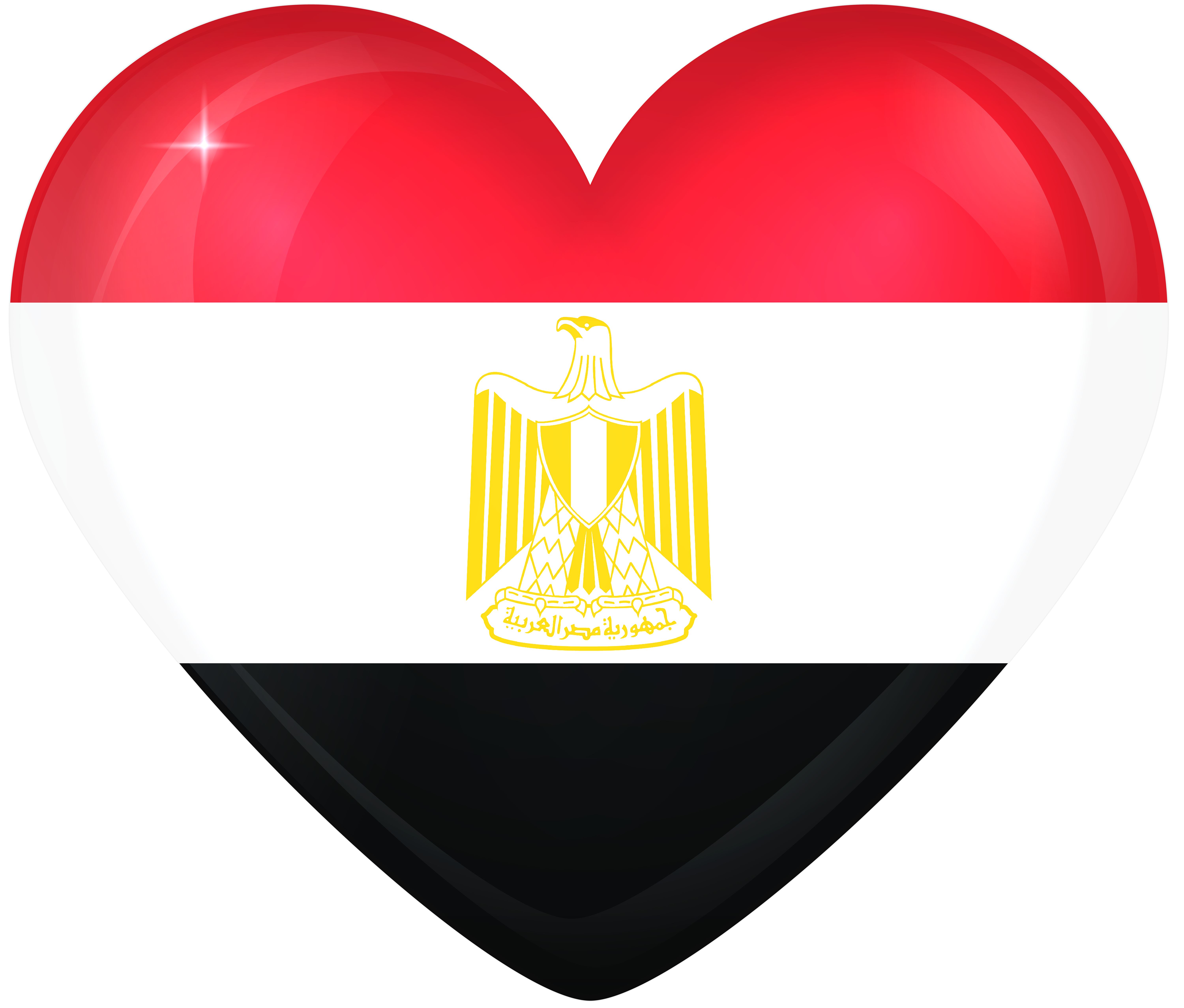 Egypt Large Heart Flag | Gallery Yopriceville - High-Quality Images ... image free