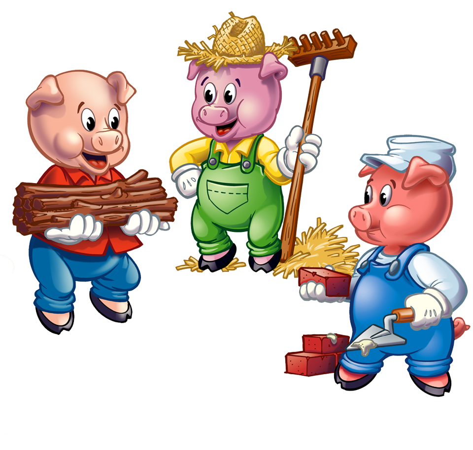 Three little pigs brick house clipart black and white image free The Three Brothers And Pigs - Lessons - Tes Teach image free