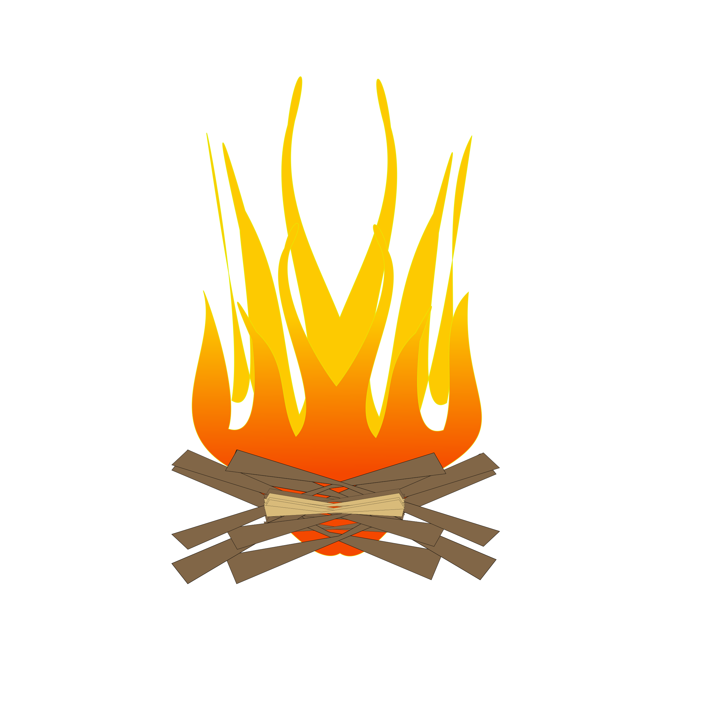 Camp Fire Clipart fire log - Free Clipart on Dumielauxepices.net vector download