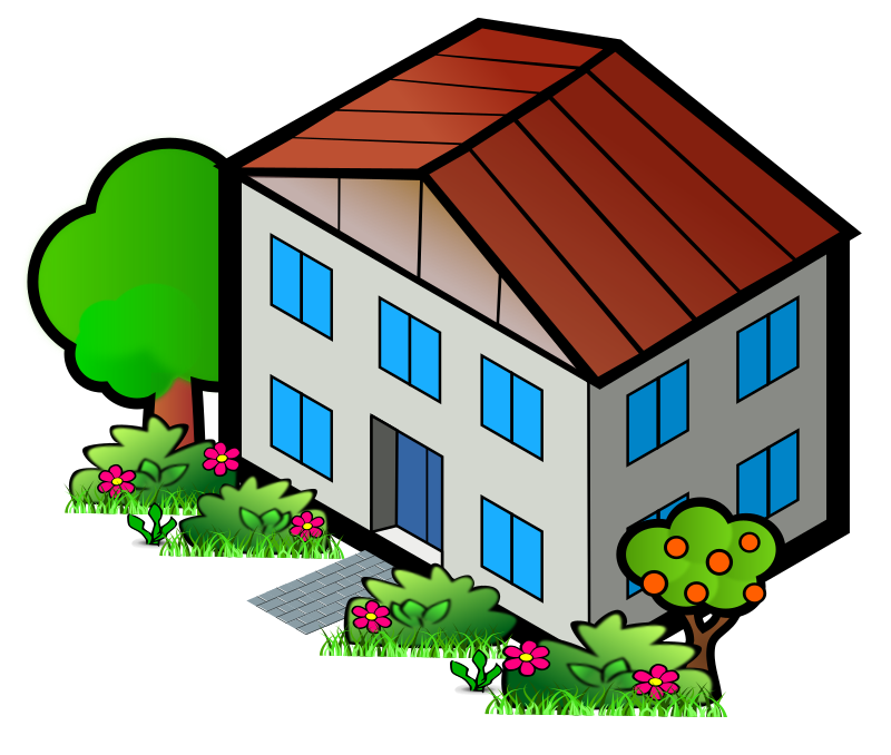 House on hill clipart vector free library City House Clipart vector free library