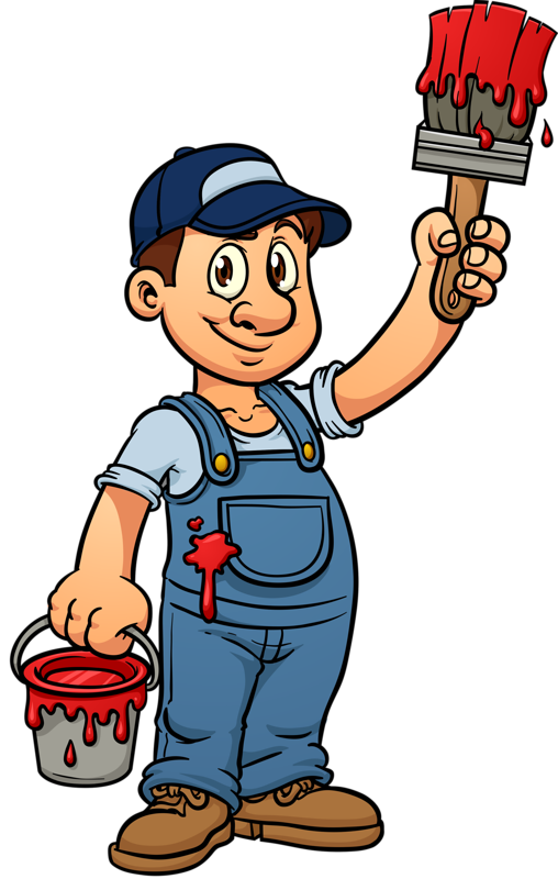 House painter clipart png library Clipart house painter png library