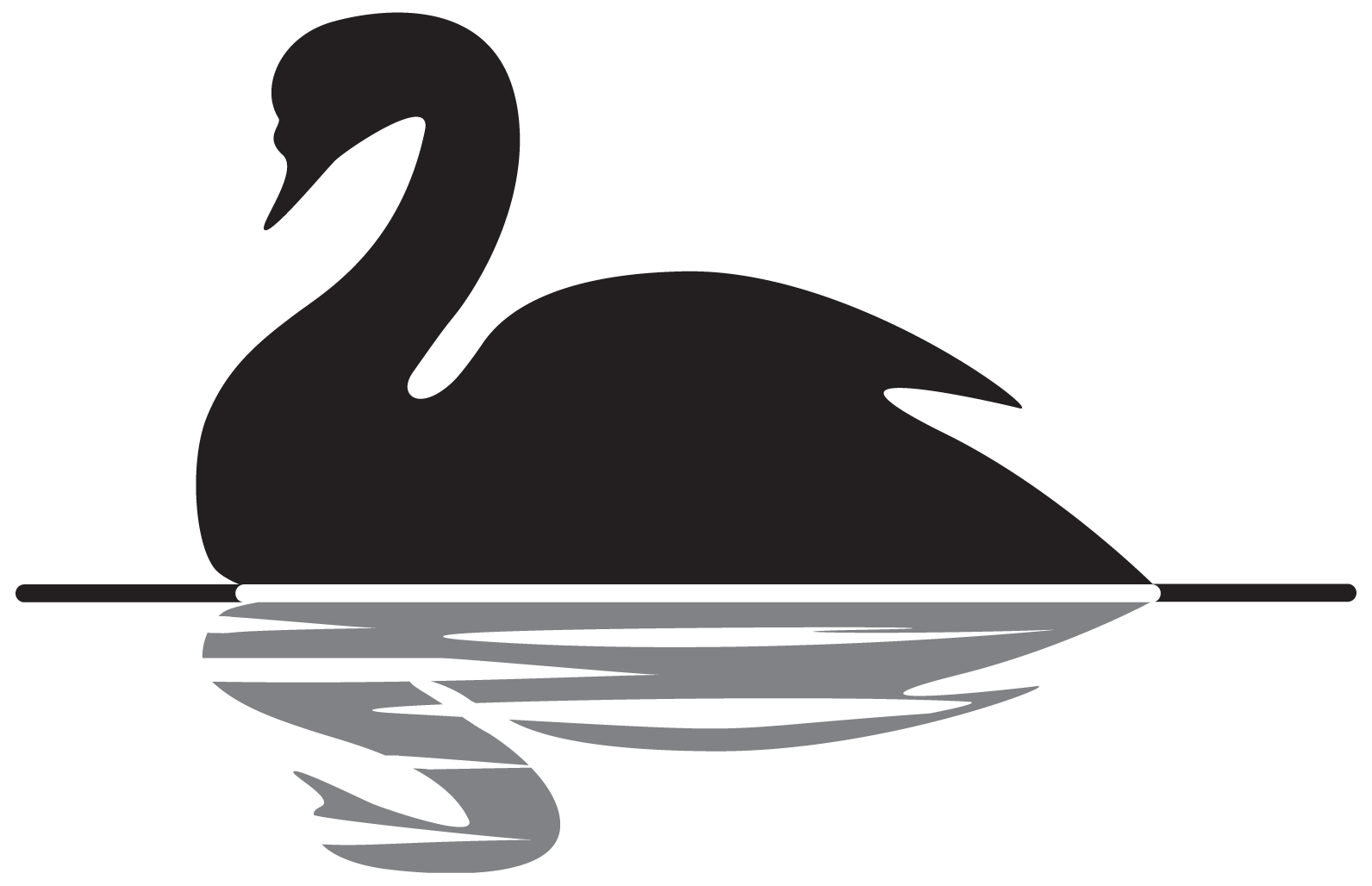 House painting clipart black and white vector black and white library Swan Clipart Black And White | Free download best Swan Clipart Black ... vector black and white library