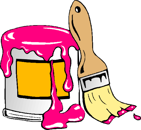 House painting tools clipart jpg download Everything Pink Clip Art | Pink Paint clip art | Pink | Pinterest jpg download
