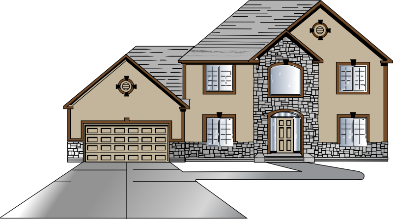 House pictures clipart with driveway svg transparent library 28+ Collection of Big House Clipart | High quality, free cliparts ... svg transparent library