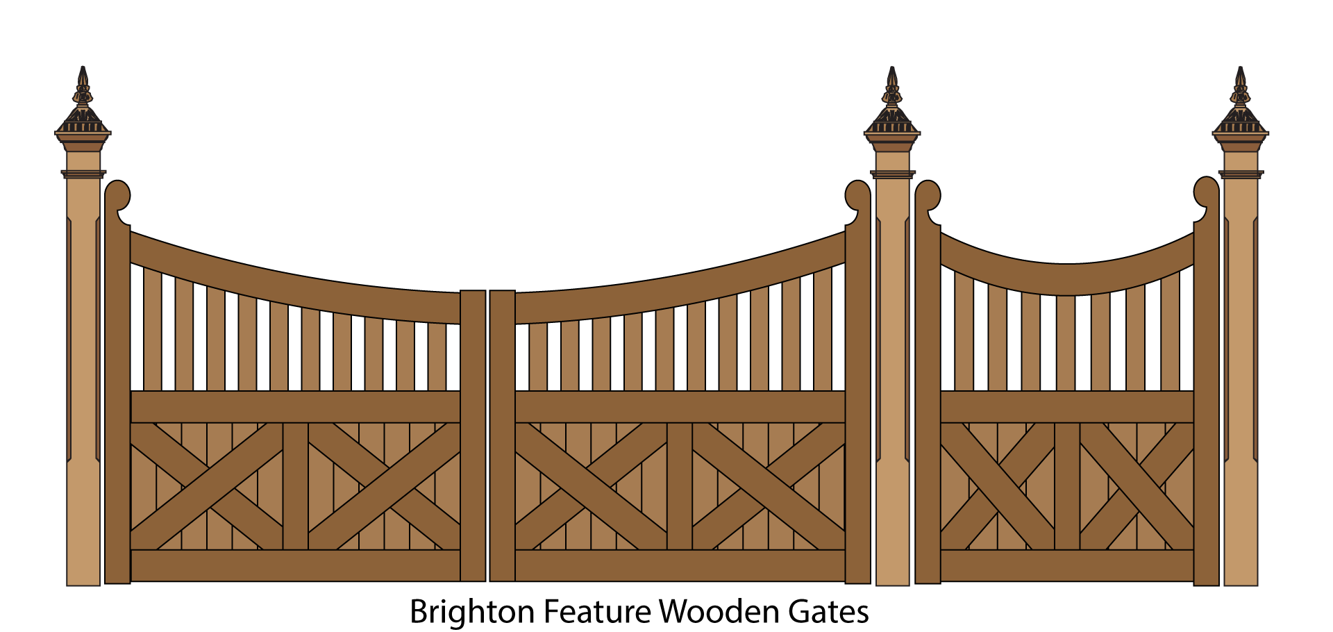 House pictures clipart with driveway clipart black and white Wooden Gates, Picket Gates and Timber gate design clipart black and white