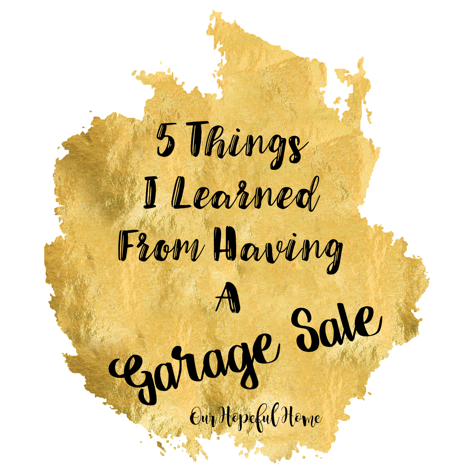 House pictures clipart with driveway svg freeuse stock Our Hopeful Home: 5 Things I Learned From Having a Garage Sale svg freeuse stock