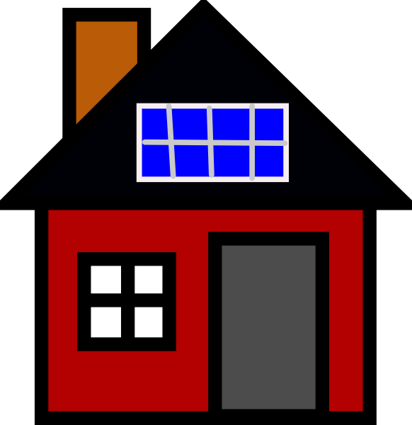 House with solar panels clipart svg freeuse House With Solar Panel Clip Art at Clker.com - vector clip art ... svg freeuse