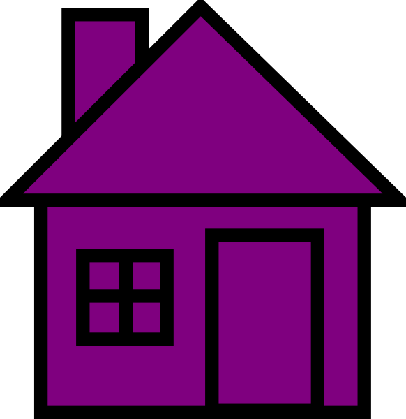 Purple house clipart black and white Purplehouse Clip Art at Clker.com - vector clip art online, royalty ... black and white