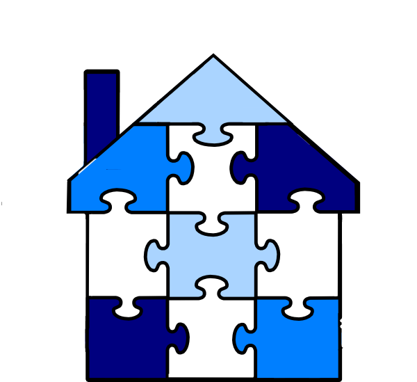 House puzzle clipart png free Puzzle Pieces House Clip Art at Clker.com - vector clip art online ... png free