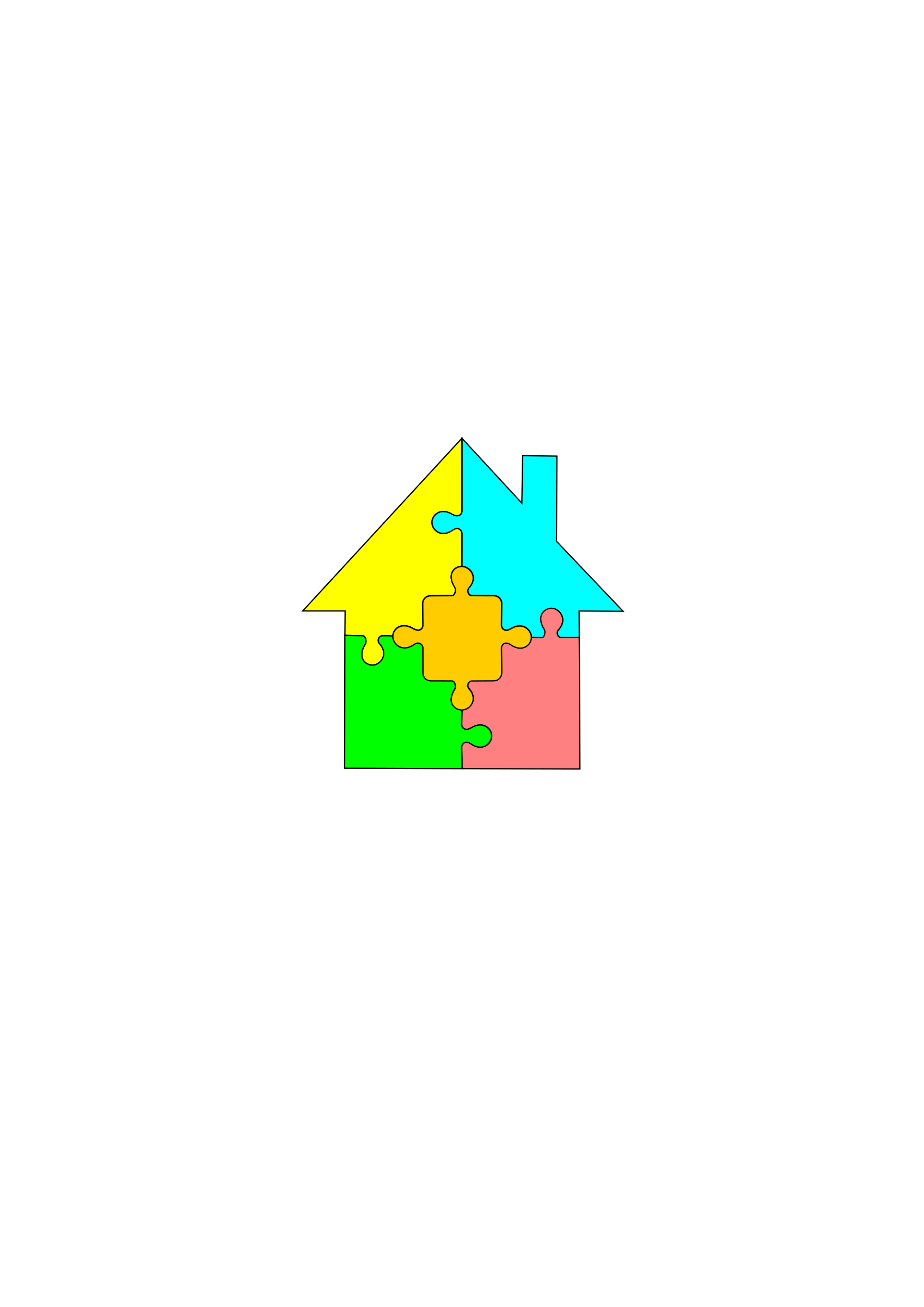 House puzzle clipart library Clipart - Puzzle-house library