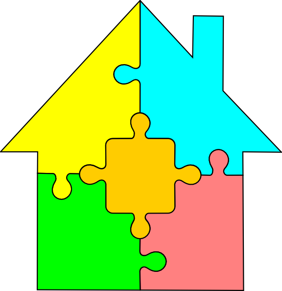 House puzzle clipart graphic black and white download House Puzzle Clip Art at Clker.com - vector clip art online, royalty ... graphic black and white download