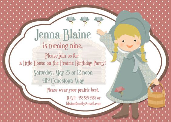 House river party clipart banner free Little House on the Prairie Birthday Invitation by Bear River ... banner free